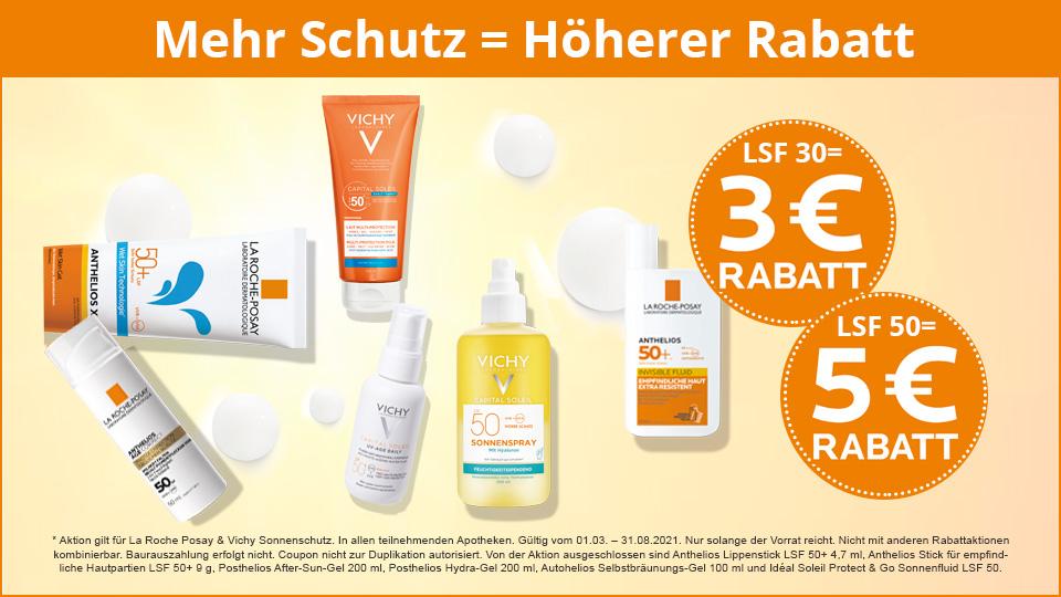 Sparen Sie beim Sonnenschutz bis zu 5€