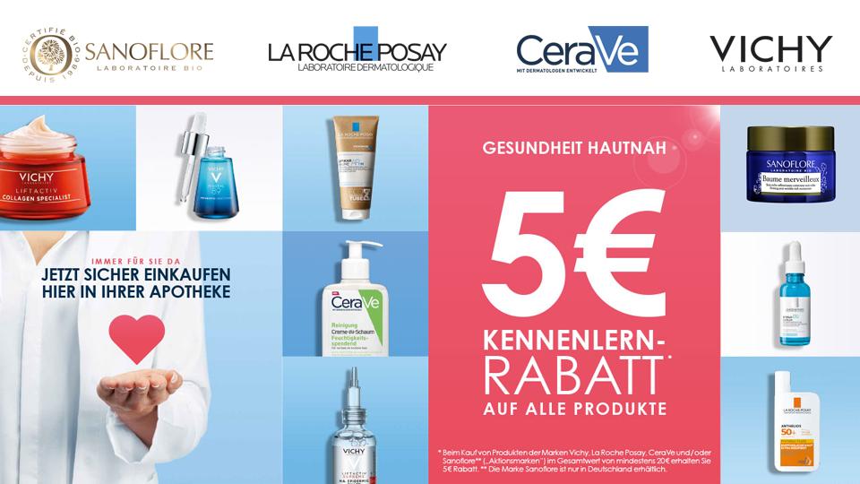 5 Euro Rabatt - Vichy, La Roche-Posay, Sanoflore, CeraVe